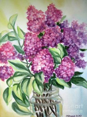 Poster featuring the painting Lilac On The Kitchen Table by Inese Poga