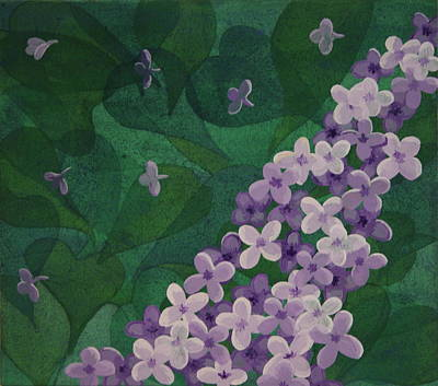 Poster featuring the painting Lilac by Paul Amaranto