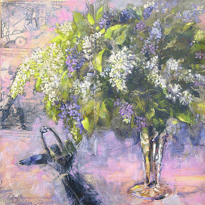 Lilacs Number One Poster by Tracie Thompson