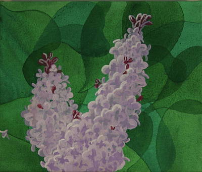 Poster featuring the painting Lilacs by Paul Amaranto