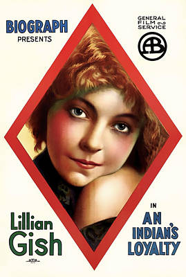 Lillian Gish In An Indian's Loyalty 1913 Poster by Mountain Dreams
