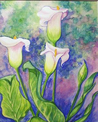 Lillies  B Poster by Helen Thomas
