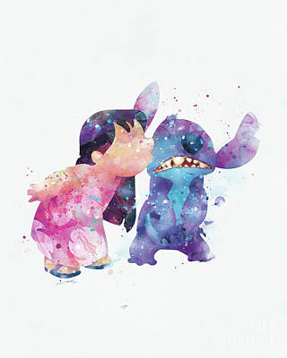 Lilo And Stitch Poster by Monn Print