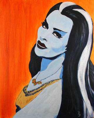 Poster featuring the painting Lily Munster - Yvonne De Carlo by Bob Baker