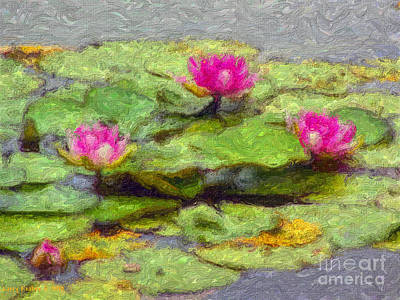 Lily Pads Poster by Larry Keahey