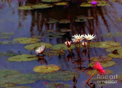 Lily Pond Watercolor Poster