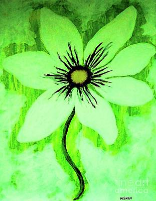 Lime Daisy Poster