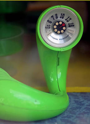 Poster featuring the photograph Lime Green Twisted Radio by Matthew Bamberg