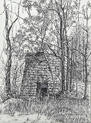 Lime Kiln, Erin, Tn Poster by Janet Felts