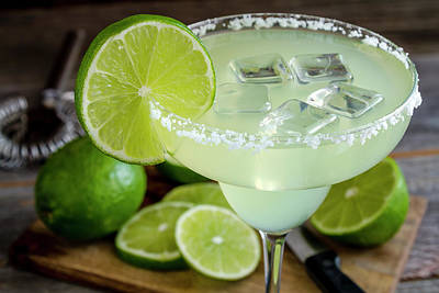 Poster featuring the photograph Lime Margarita Drink by Teri Virbickis