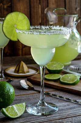 Poster featuring the photograph Lime Margaritas by Teri Virbickis