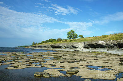 Poster featuring the photograph Limestone Coast Patterns by Kennerth and Birgitta Kullman