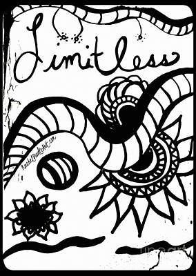 Poster featuring the drawing Limitless by Rachel Maynard