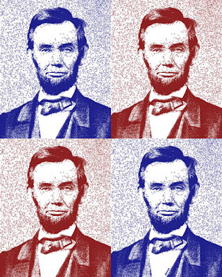 Lincoln Abstract America Poster by Greg Collins