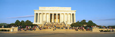 Lincoln Memorial And Tourists Poster