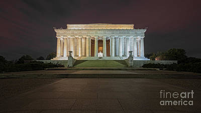 Lincoln Memorial Midnight Poster by Jerry Fornarotto