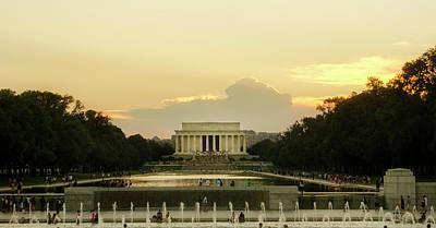 Lincoln Memorial Sunset Poster