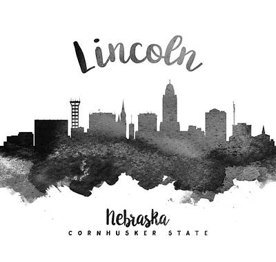 Lincoln Nebraska Skyline 18 Poster by Aged Pixel