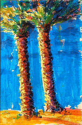 Lincoln Rd Date Palms Poster