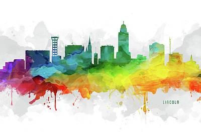 Lincoln Skyline Mmr-usneli05 Poster by Aged Pixel