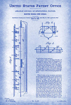 Lincoln U. S. 6469 Patent Blueprint View Poster by Keith Ptak
