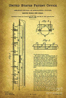 Lincoln U. S. 6469 Patent Poster by Keith Ptak