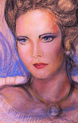 Poster featuring the pastel Linda Carter by Denise Fulmer