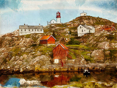 Lindesnes Lighthouse Poster by Kai Saarto