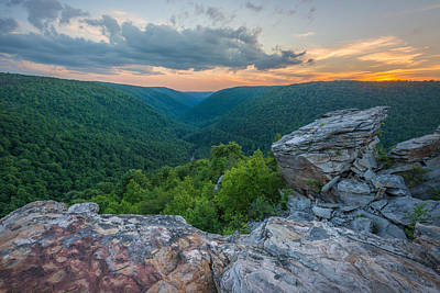 Canaan Valley West Virgina Lindy Point Sunset Poster by Rick Dunnuck