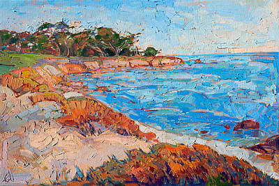 Poster featuring the painting Line Of Monterey by Erin Hanson