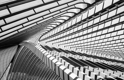 Lines In Liege Poster by Jeroen Van De Wiel