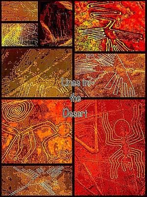 Lines In The Desert Poster