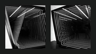 Lines Of Light Diptych Poster
