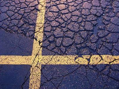 Lines On Asphalt I Poster by Anna Villarreal Garbis