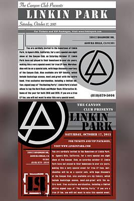 Linkin Park, Canyon Club Invitations Poster by Leon Gorani
