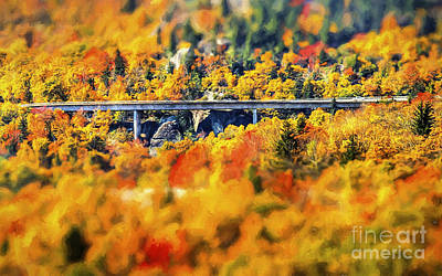 Linn Cove Viaduct Poster by Darren Fisher