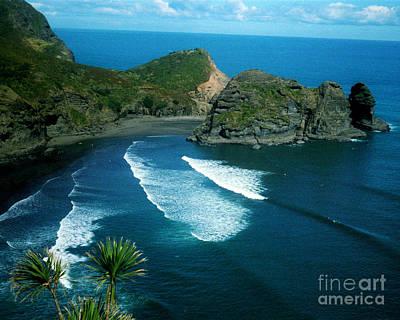 Lion Beach Piha New Zealand Poster by Mark Dodd