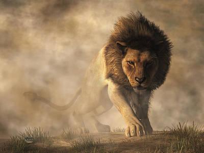 Lion Poster by Daniel Eskridge