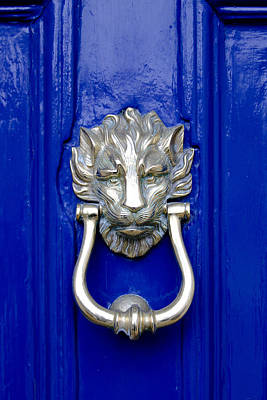 Lion Doorknocker Poster