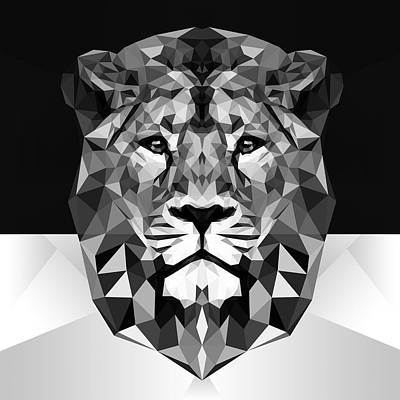 Lion Poster by Gallini Design