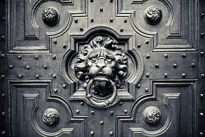 Lion Head Door Knocker Poster