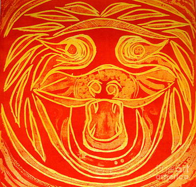 Lion Mask Poster by Jane Gatward