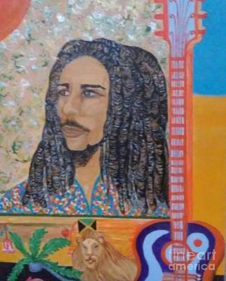 Lion Mon Or Marley's Mantle Poster by Vivia Hakala