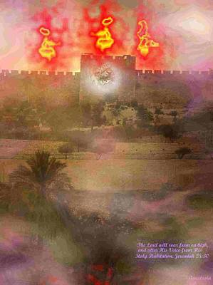 Poster featuring the photograph Lion Of Judah At The Gate He Is Coming by Anastasia Savage Ealy