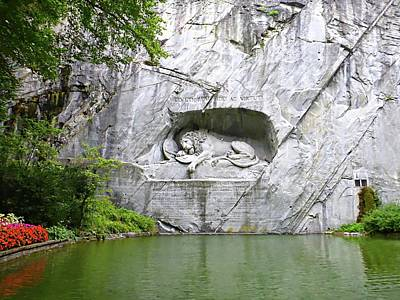 Lion Of Lucerne Poster by Joseph Hendrix