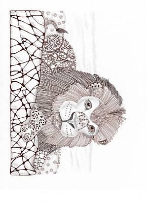 Lion Poster by Paula Dickerhoff
