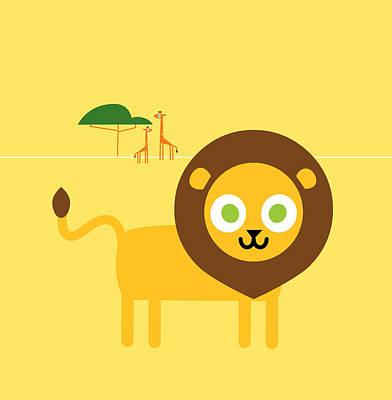 Lion Savanna Poster