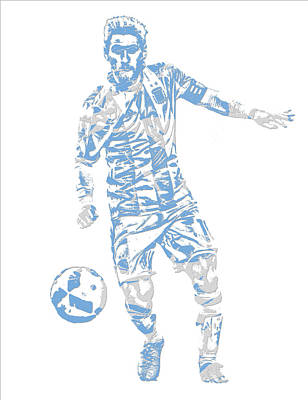 Lionel Messi F C Barcelona Argentina Pixel Art 3 Poster