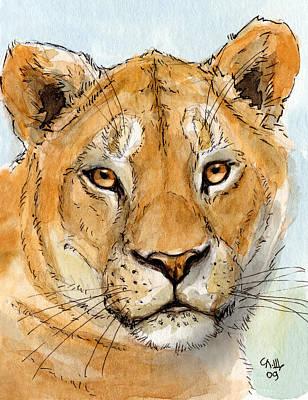 Lioness Poster by Svetlana Ledneva-Schukina