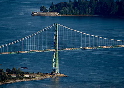 Lions Gate Bridge And Brockton Point Poster
